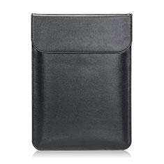 Leder Handy Tasche Sleeve Schutz Hülle L21 für Apple MacBook Air 11 zoll Schwarz