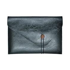 Leder Handy Tasche Sleeve Schutz Hülle L23 für Apple MacBook 12 zoll Schwarz