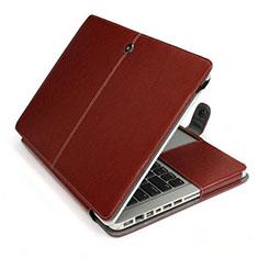 Leder Handy Tasche Sleeve Schutz Hülle L24 für Apple MacBook Air 13.3 zoll (2018) Braun
