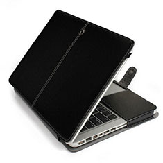 Leder Handy Tasche Sleeve Schutz Hülle L24 für Apple MacBook Air 13.3 zoll (2018) Schwarz