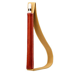 Leder Hülle Schreibzeug Schreibgerät Beutel Halter mit Abnehmbare Gummiband P01 für Apple Pencil Apple iPad Pro 12.9 (2017) Rot