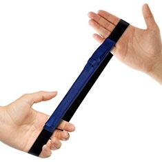 Leder Hülle Schreibzeug Schreibgerät Beutel Halter mit Abnehmbare Gummiband P03 für Apple Pencil Apple iPad Pro 12.9 Blau