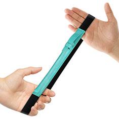 Leder Hülle Schreibzeug Schreibgerät Beutel Halter mit Abnehmbare Gummiband P03 für Apple Pencil Apple iPad Pro 12.9 Grün