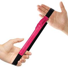 Leder Hülle Schreibzeug Schreibgerät Beutel Halter mit Abnehmbare Gummiband P03 für Apple Pencil Apple iPad Pro 12.9 Pink