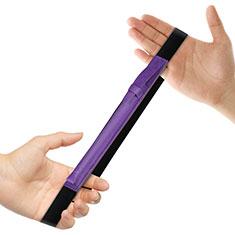 Leder Hülle Schreibzeug Schreibgerät Beutel Halter mit Abnehmbare Gummiband P03 für Apple Pencil Apple iPad Pro 12.9 Violett