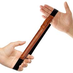 Leder Hülle Schreibzeug Schreibgerät Beutel Halter mit Abnehmbare Gummiband P03 für Apple Pencil Apple New iPad 9.7 (2017) Braun