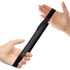 Leder Hülle Schreibzeug Schreibgerät Beutel Halter mit Abnehmbare Gummiband P03 für Apple Pencil Apple New iPad 9.7 (2018) Schwarz
