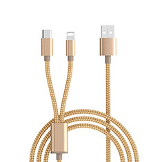 Lightning USB Ladekabel Kabel Android Micro USB ML03 für Apple iPhone 11 Pro Gold