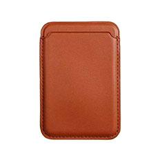 Luxus Leder Wallet Schutzhülle mit Mag-Safe Magnetic Magnetisch für Apple iPhone 12 Braun
