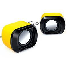 Mini Lautsprecher Stereo Speaker für Apple iPad 4 Gelb
