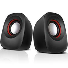 Mini Lautsprecher Stereo Speaker W01 für Nokia 2.4 Schwarz