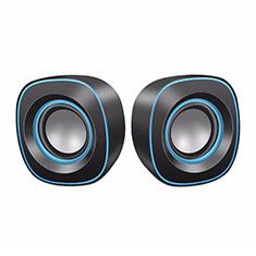 Mini Lautsprecher Stereo Speaker W02 für Oppo F17 Schwarz