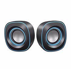Mini Lautsprecher Stereo Speaker W02 für Xiaomi Poco M3 Schwarz