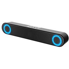 Mini Lautsprecher Stereo Speaker W03 für Oppo F17 Schwarz