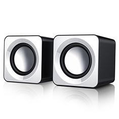 Mini Lautsprecher Stereo Speaker W04 für Oppo F17 Weiß