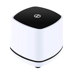 Mini Lautsprecher Stereo Speaker W06 für Oppo F17 Weiß