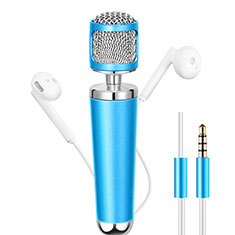 Mini-Stereo-Mikrofon Mic 3.5 mm Klinkenbuchse Hellblau