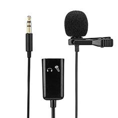 Mini-Stereo-Mikrofon Mic 3.5 mm Klinkenbuchse K01 für Sony Xperia XZ2 Premium Schwarz