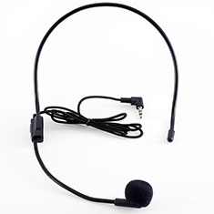 Mini-Stereo-Mikrofon Mic 3.5 mm Klinkenbuchse K03 für Oneplus 7 Schwarz