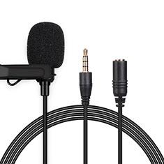 Mini-Stereo-Mikrofon Mic 3.5 mm Klinkenbuchse K06 für Sony Xperia XZ2 Premium Schwarz