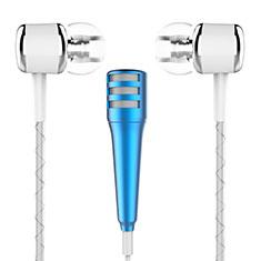 Mini-Stereo-Mikrofon Mic 3.5 mm Klinkenbuchse M01 Blau