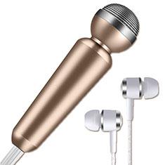 Mini-Stereo-Mikrofon Mic 3.5 mm Klinkenbuchse M02 Gold