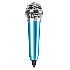 Mini-Stereo-Mikrofon Mic 3.5 mm Klinkenbuchse M04 für Oneplus 7 Hellblau