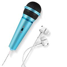 Mini-Stereo-Mikrofon Mic 3.5 mm Klinkenbuchse M05 für Huawei Honor View 20 Hellblau