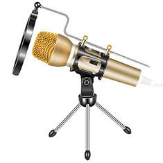 Mini-Stereo-Mikrofon Mic 3.5 mm Klinkenbuchse Mit Stand M03 Gold