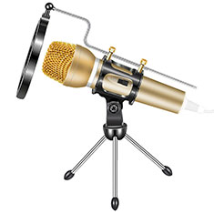 Mini-Stereo-Mikrofon Mic 3.5 mm Klinkenbuchse Mit Stand M03 für Xiaomi Redmi Note 5 Pro Gold