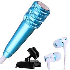 Mini-Stereo-Mikrofon Mic 3.5 mm Klinkenbuchse Mit Stand M08 für Oneplus 7 Blau