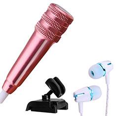 Mini-Stereo-Mikrofon Mic 3.5 mm Klinkenbuchse Mit Stand M08 für Oneplus 7 Rosegold