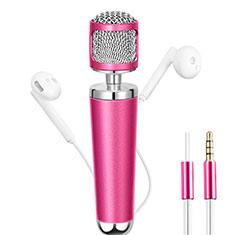 Mini-Stereo-Mikrofon Mic 3.5 mm Klinkenbuchse für Xiaomi Redmi Note 5 Pro Rosa