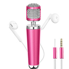 Mini-Stereo-Mikrofon Mic 3.5 mm Klinkenbuchse für Oneplus 7 Rosa