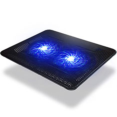 NoteBook Halter Halterung Kühler Cooler Kühlpad Lüfter Laptop Ständer 9 Zoll bis 14 Zoll Universal S01 für Apple MacBook Air 11 zoll Schwarz