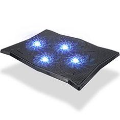 NoteBook Halter Halterung Kühler Cooler Kühlpad Lüfter Laptop Ständer 9 Zoll bis 16 Zoll Universal M08 für Apple MacBook Air 13 zoll (2020) Schwarz