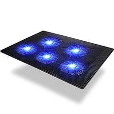 NoteBook Halter Halterung Kühler Cooler Kühlpad Lüfter Laptop Ständer 9 Zoll bis 16 Zoll Universal M09 für Apple MacBook Air 13 zoll (2020) Schwarz