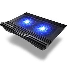 NoteBook Halter Halterung Kühler Cooler Kühlpad Lüfter Laptop Ständer 9 Zoll bis 16 Zoll Universal M10 für Apple MacBook Air 13 zoll (2020) Schwarz