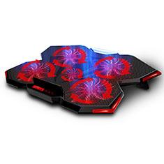 NoteBook Halter Halterung Kühler Cooler Kühlpad Lüfter Laptop Ständer 9 Zoll bis 16 Zoll Universal M12 für Apple MacBook Air 13 zoll (2020) Schwarz