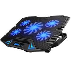NoteBook Halter Halterung Kühler Cooler Kühlpad Lüfter Laptop Ständer 9 Zoll bis 16 Zoll Universal M14 für Apple MacBook Air 13 zoll (2020) Schwarz