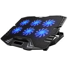 NoteBook Halter Halterung Kühler Cooler Kühlpad Lüfter Laptop Ständer 9 Zoll bis 16 Zoll Universal M15 für Apple MacBook Air 13 zoll (2020) Schwarz