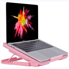 NoteBook Halter Halterung Kühler Cooler Kühlpad Lüfter Laptop Ständer 9 Zoll bis 16 Zoll Universal M16 für Apple MacBook Air 11 zoll Rosa