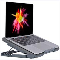 NoteBook Halter Halterung Kühler Cooler Kühlpad Lüfter Laptop Ständer 9 Zoll bis 16 Zoll Universal M16 für Apple MacBook Pro 15 zoll Retina Grau