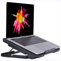 NoteBook Halter Halterung Kühler Cooler Kühlpad Lüfter Laptop Ständer 9 Zoll bis 16 Zoll Universal M16 für Apple MacBook Pro 15 zoll Retina Schwarz