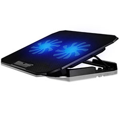 NoteBook Halter Halterung Kühler Cooler Kühlpad Lüfter Laptop Ständer 9 Zoll bis 16 Zoll Universal M17 für Apple MacBook Air 13.3 zoll (2018) Schwarz