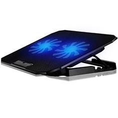 NoteBook Halter Halterung Kühler Cooler Kühlpad Lüfter Laptop Ständer 9 Zoll bis 16 Zoll Universal M17 für Apple MacBook Air 13 zoll (2020) Schwarz