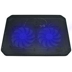 NoteBook Halter Halterung Kühler Cooler Kühlpad Lüfter Laptop Ständer 9 Zoll bis 16 Zoll Universal M20 für Apple MacBook Pro 15 zoll Schwarz