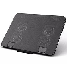 NoteBook Halter Halterung Kühler Cooler Kühlpad Lüfter Laptop Ständer 9 Zoll bis 16 Zoll Universal M21 für Apple MacBook 12 zoll Schwarz