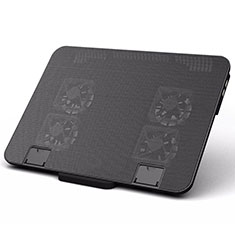 NoteBook Halter Halterung Kühler Cooler Kühlpad Lüfter Laptop Ständer 9 Zoll bis 16 Zoll Universal M21 für Apple MacBook Pro 13 zoll Schwarz