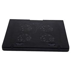 NoteBook Halter Halterung Kühler Cooler Kühlpad Lüfter Laptop Ständer 9 Zoll bis 16 Zoll Universal M22 für Apple MacBook Air 13 zoll (2020) Schwarz